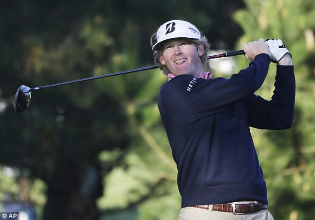 Looking good: Brandt Snedeker shares the lead at Pebble Beach