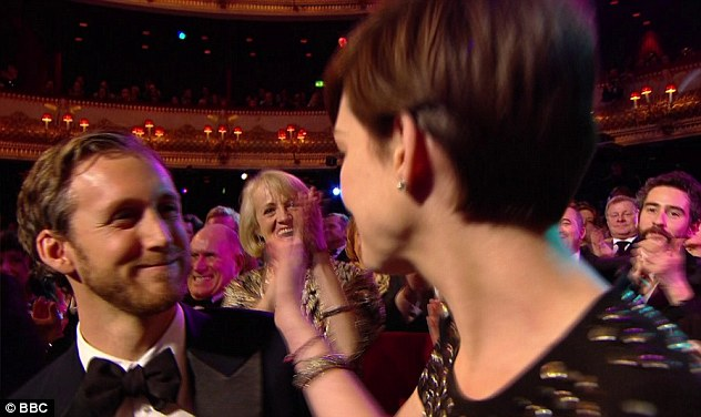 My very talented wife: Anne was congratulated by her husband Adam Shulman upon hearing that she had won