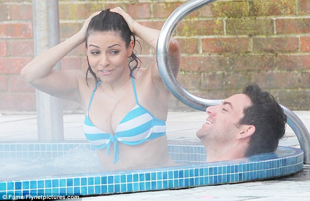 Close: Roxanne was joined at the spa by her Rocky Horror Show co-star Ben Forster