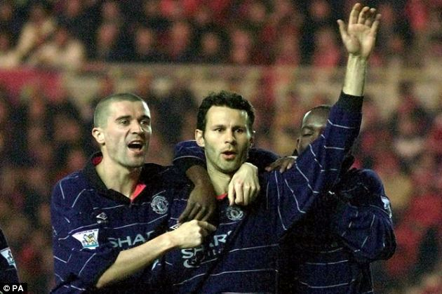 1999/2000: Giggs scored one of his side's 97 Premier League goals this season