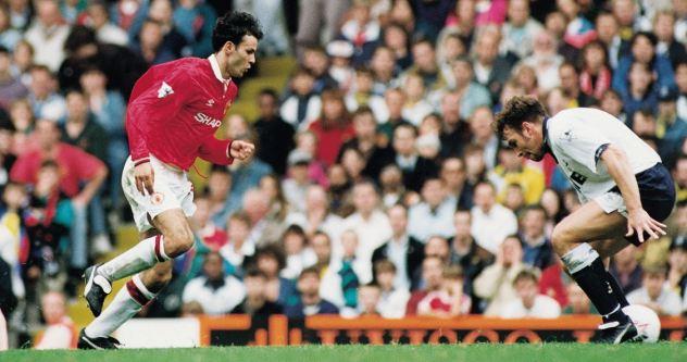 1992/1993: Improvising to nutmeg Tottenham's Jason Cundy before scoring in a 1-1 draw