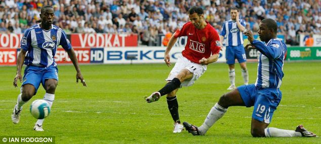2007/2008: Helping to secure the title... days before United won the Champions League