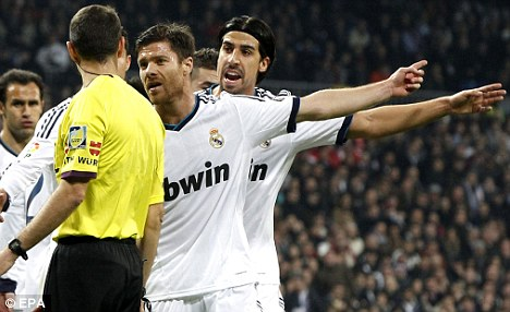Winners this way: Xabi Alonso has no doubt Madrid will beat Manchester United