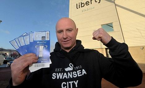 Swansea supporter