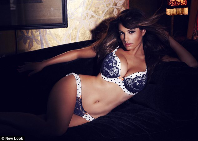 Dotty over her: Kelly Brook shows off her curves and her Valentine's range for New Look in these steamy snaps