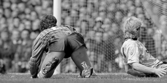 1990/1991: Where it all began for Giggs (not pictured) as he appropriately scores the first goal of his career against despairing rivals Manchester City