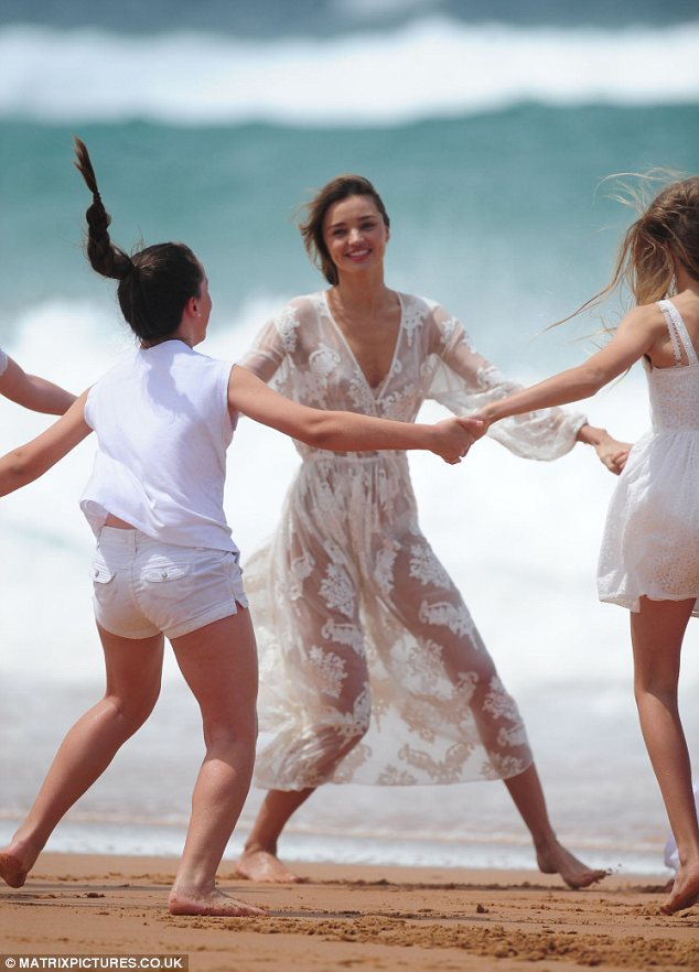 Ring-a-rose: The girls held hands as they skipped in a circle playing the classic game