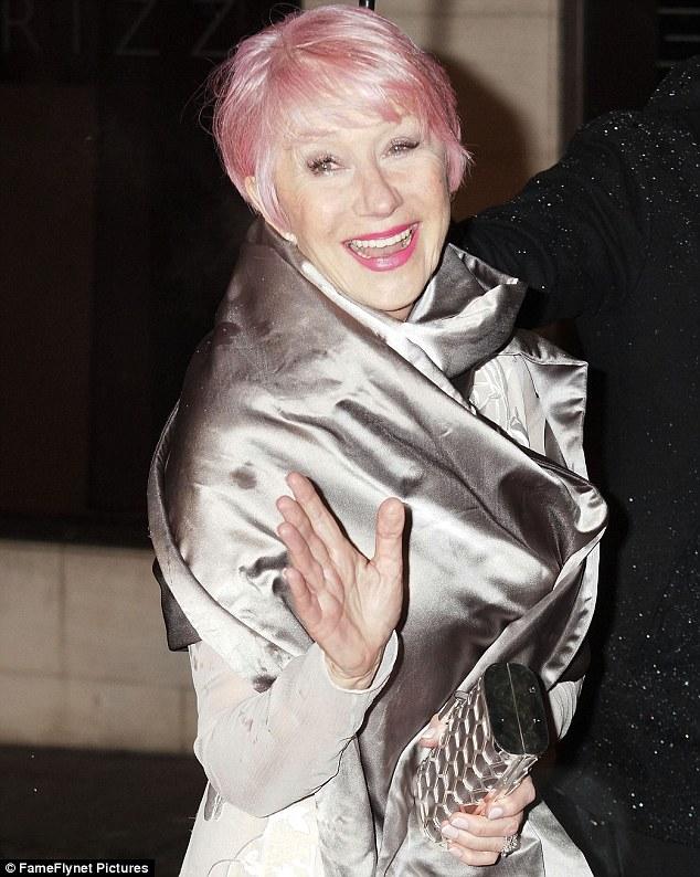 BAFTA glamour: Helen debuted her dyed hair at the BAFTA Awards on Sunday night