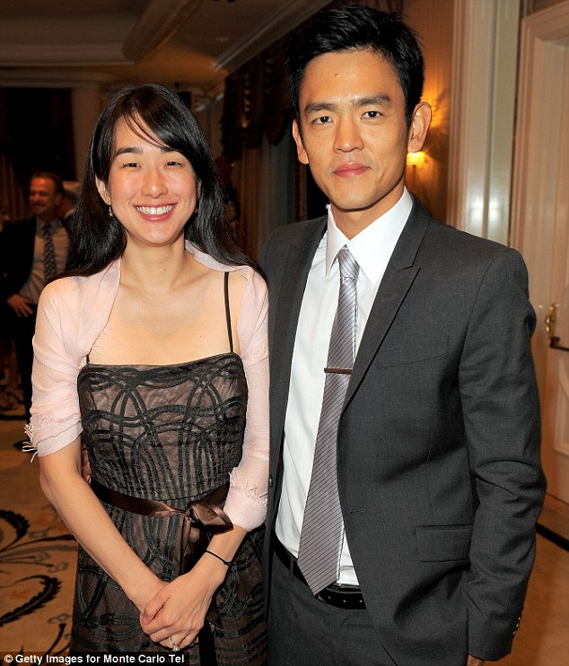 Low-key: John Cho and wife Kerri Higuchi have welcomed a baby daughter into the world, they already have one son, four, together