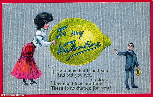 Ouch! The verse on this rather brutal card tells the recipient that his love is unrequited