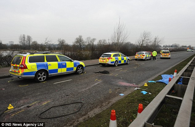 The pursuit reportedly began when the red Fiesta failed to pull over after being signalled by a patrol car
