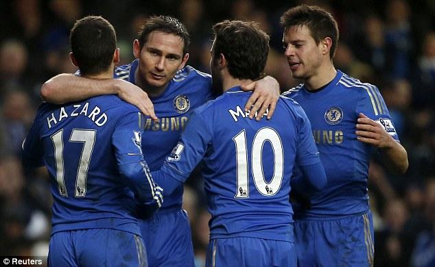 On a roll: Chelsea head to Sparta Prague this week for their Europa League clash