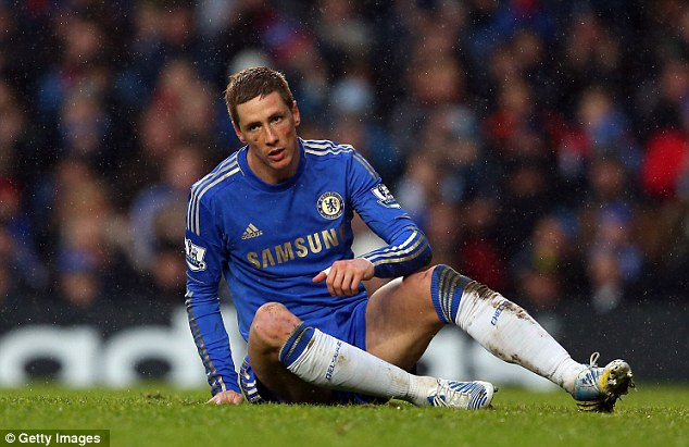 Out of form: Even under his former manager, Fernando Torres has failed to perform