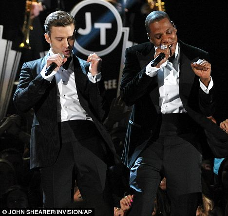Dynamic: The pair performed Justin's comeback single Suit and Tie