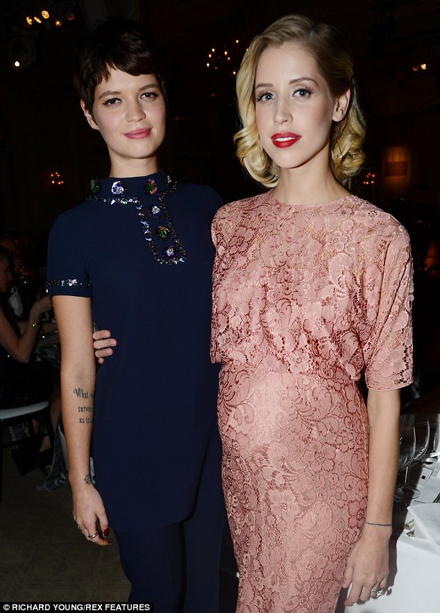 Retro: While Pixie looked to the 70s for her outfit choice, Peaches opted for a lacy 1940s number