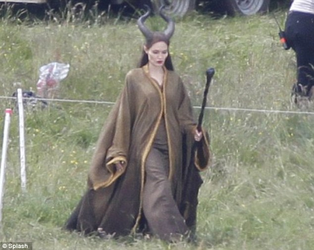 Fantasy film: Angelina plays the evil queen in the upcoming Disney movie