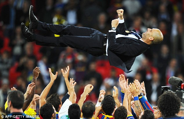 Contender: Former Barcelona manager Pep Guardiola has been linked with the Manchester United job in the past