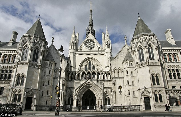'Unfounded': Mr Yapp was a diplomat in Belize until his sudden suspension in June 2008. London's High Court, pictured, heard he was left 'shell-shocked' when his superiors told him of the allegations being levelled against him