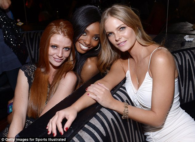 Model friends: Cintia, Adaora and Jessica cuddled up together for a photo opportunity