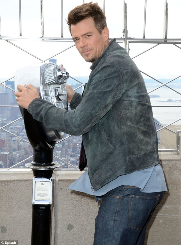 Check out the view: Josh made sure he took in the city from the tourist hotspot during his visit