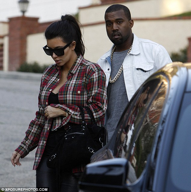 Getting ready: Kim and Kanye have begun stocking up their house with items in preparation for the arrival of their first child together