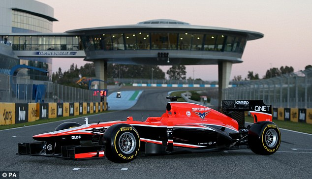 Struggling: The Marussia may again be in a battle with Caterham to not finish last in the Championship