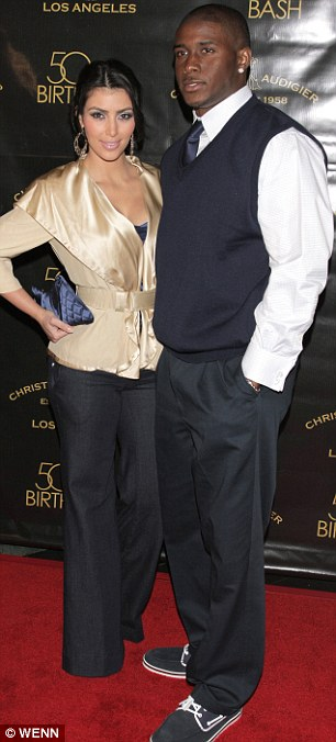 Moving on: Kim is now pregnant with boyfriend Kanye West, seen right with Reggie in back in 2008