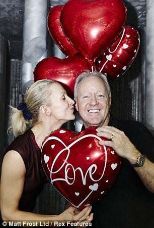 Sweet: Keith Chegwin and Olga Sharutenko seemed to enjoy the hearty surprise