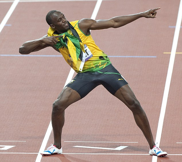 Pace to burn: Usain Bolt holds both the Olympic 100m and 200m records