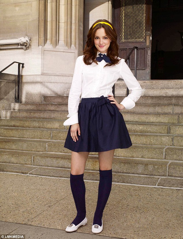 Preppy style: Blair Waldorf was know for her preppy Manhattan style in the hit US show, something that Helen's been trying to emulate