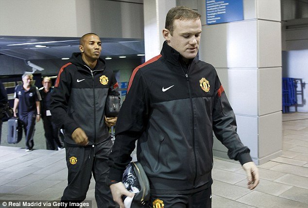 Start: Wayne Rooney will take the United challenge to Real Madrid in tonight's first leg