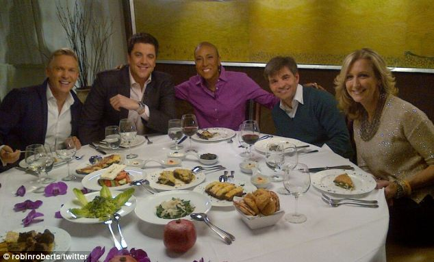'Re-entry continues': The seven-year GMA veteran enjoyed a celebratory lunch with her co-hosts Champion, Elliott, George Stephanopoulos, and Lara Spencer ahead of the announcement of her imminent return
