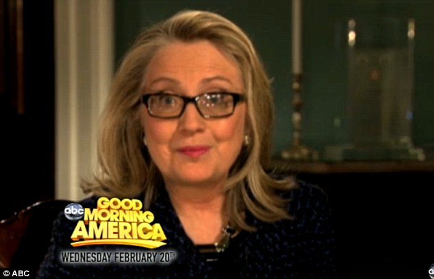 Famous fan: Even Hillary Clinton said she was looking forward to seeing Roberts back on her television