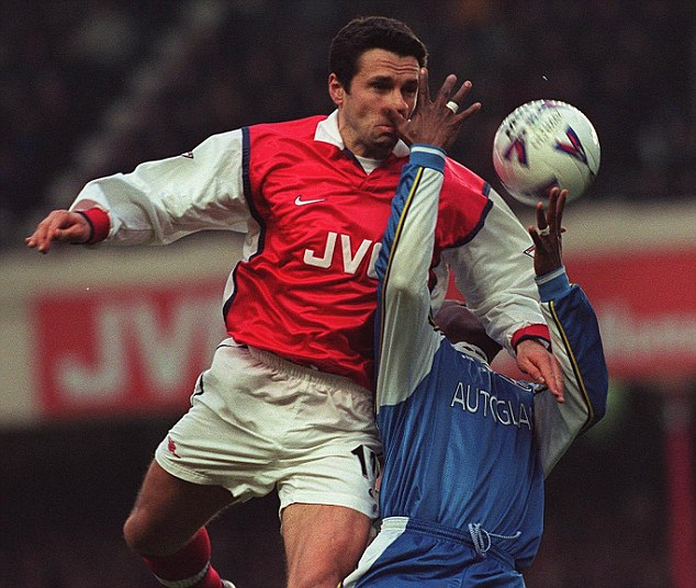 Wenger boy: Current Lyon coach Remi Garde was part of Arsenal's double winning side of 1997-98