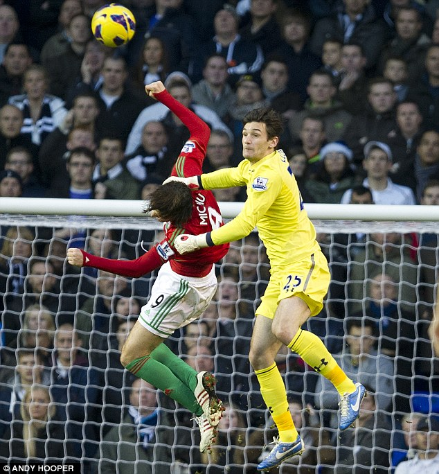 Homecoming: Goalkeeper Hugo Lloris moved from Lyon to Spurs in the summer but will be replaced by Brad Friedel
