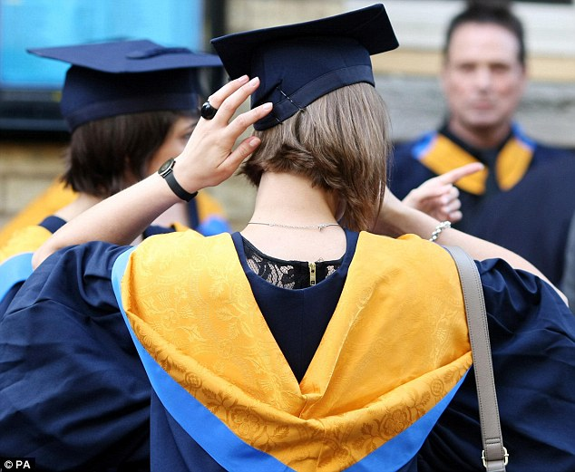 Not happy: The governor of the Bank of England believes inflation has been pushed up by the introduction of tuition fees. This is a file picture of graduates