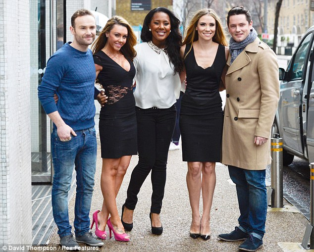 Back together: Michelle has reunited with her former Liberty X bandmates to take part in the TV show