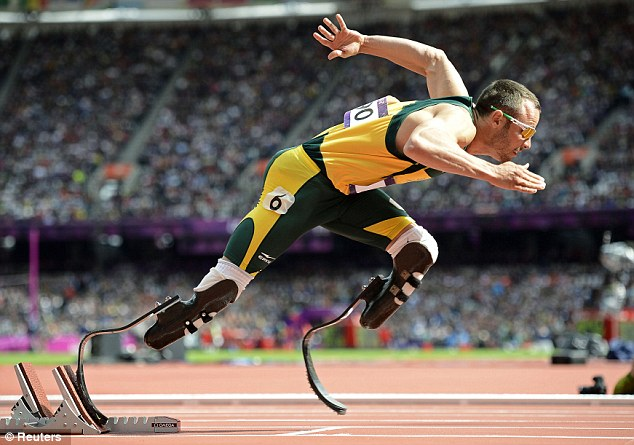 Glittering: Pistorius won six Paralympic golds with his last two coming at London 2012