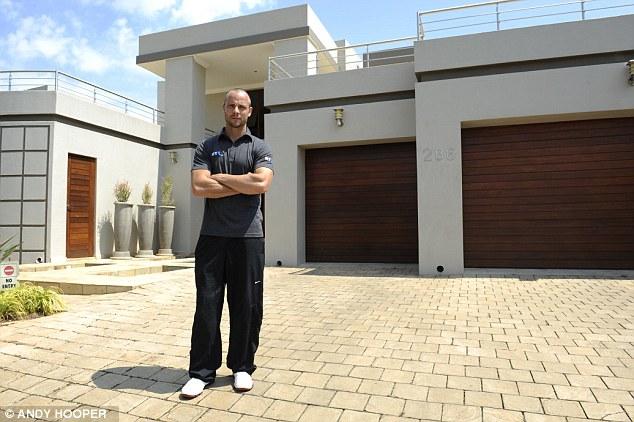 Scene: Oscar's Pistorius' home where Reeva Steenkamp was shot dead