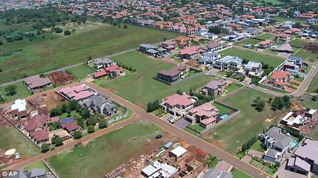 Location: Pistorius's home is inside a gated housing complex with a nature reserve, golf course and lots of green space, all within high walls