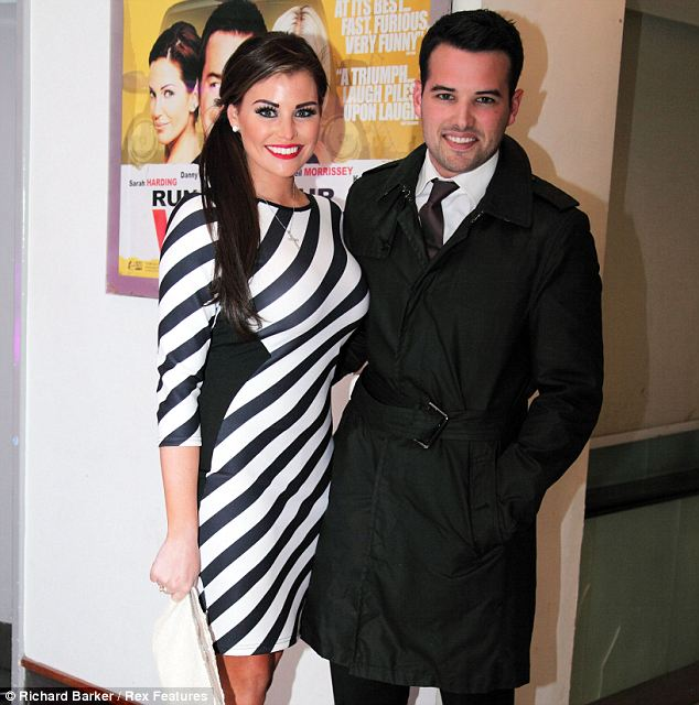 Loved up: Jessica will be having a happy Valentine's with boyfriend Ricky Rayment