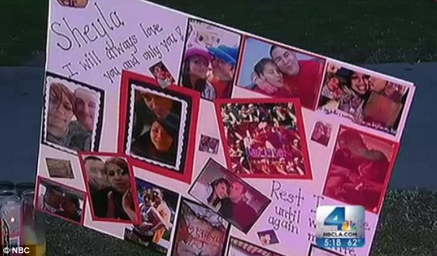 A picture collage made for Sheyla Mendoza - who died crossing the street on her way home from attending a baby shower