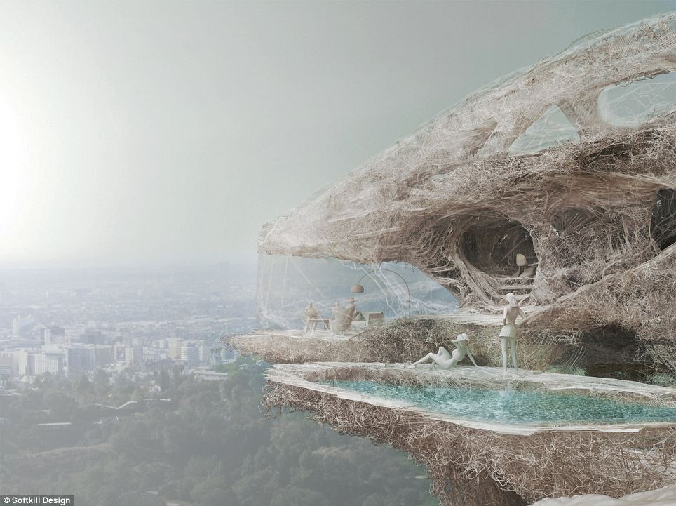 The house of the future? This incredible design for a 3D printed home has been proposed by London-based architecture collective Softkill Design. They say the first prototype could be built this summer