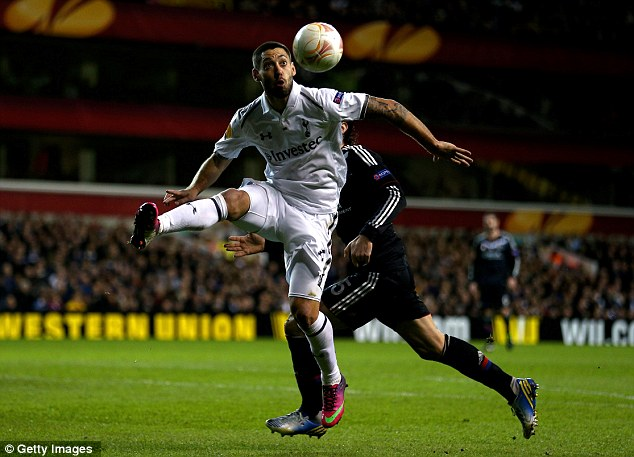 Eyes on the ball: Clint Dempsey controls the ball