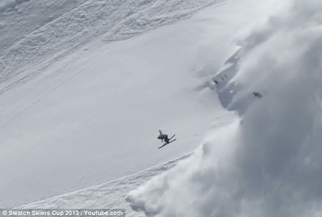 Sverre Liliequist narrowly escaped an avalanche in Switzerland