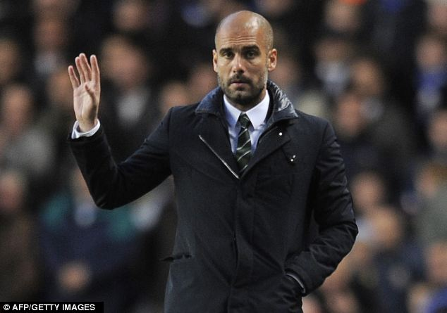 Sending his scouts: Guardiola (pictures) has sent his scouts to watch Bale