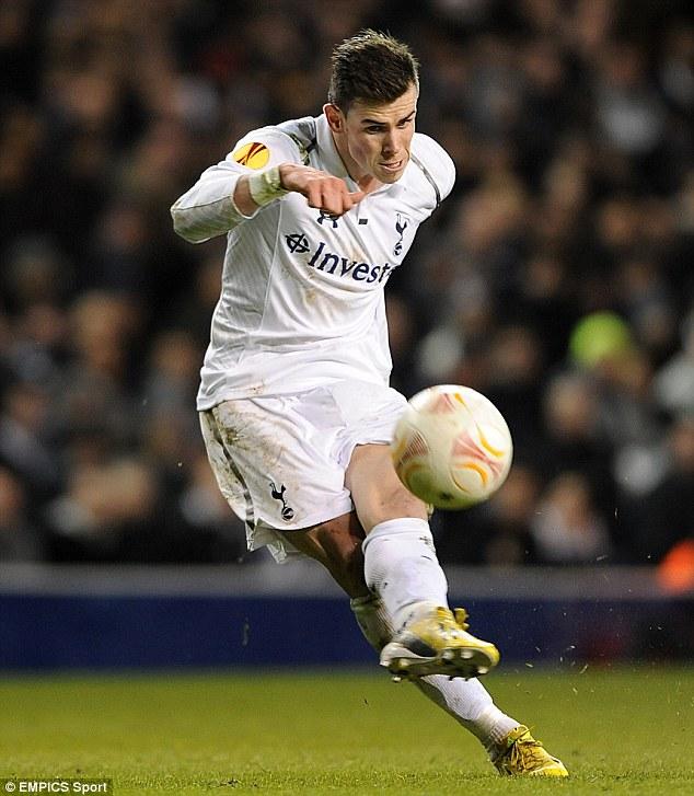 Headed away: Gareth Bale has become soon-to-be Bayern boss Pep Guardiola's top priority