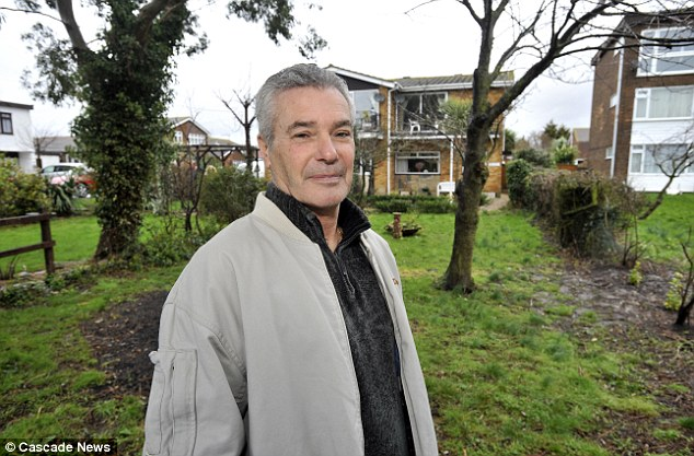 'Someone could pitch a caravan in my front garden and I would be powerless': Mike Bering in front of the land