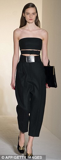 Not so basic black: Designer Francisco Costa employed Calvin Klein's signature minimalistic aesthetic for the fall collection