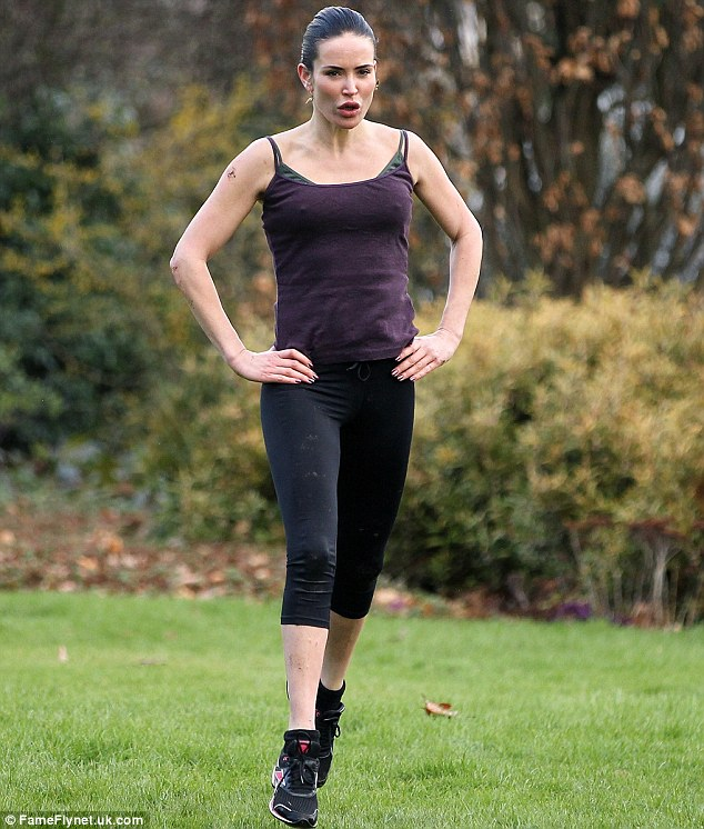 Keeping fit: Sophie Anderton has just spent a week at a bootcamp in North Devon